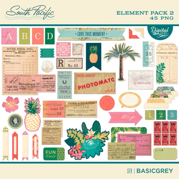 Basic Grey digital scrapbooking embellishment kit