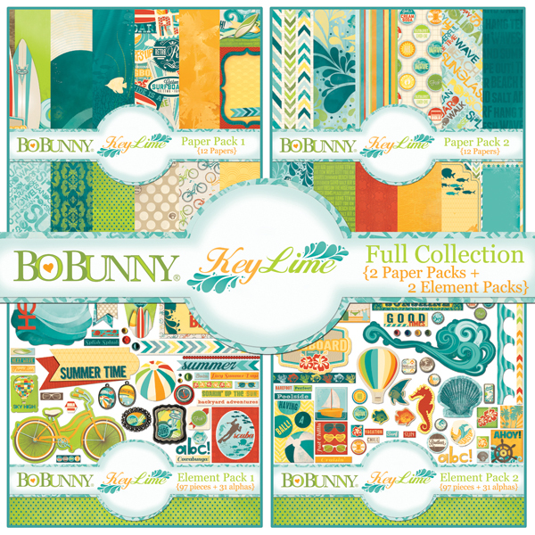 bo bunny key lime digital scrapbooking kit