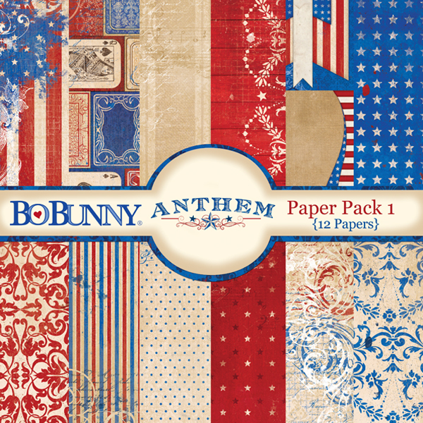 Bo Bunny patriotic digital scrapbooking paper kit