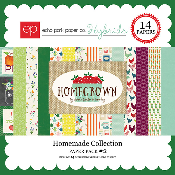 echo park paper hybrids homegrown digital scrapbooking kit