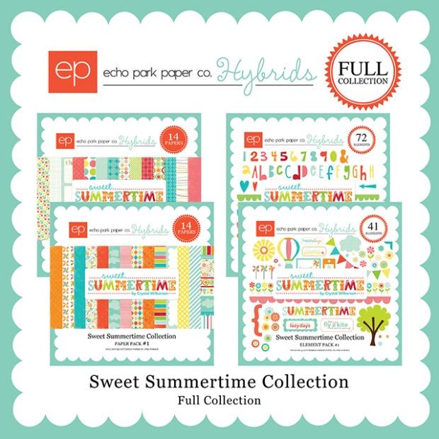 echo park sweet summertime digital scrapbooking full collection kit