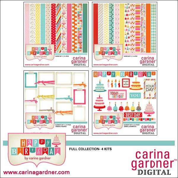 happy birthday digital scrapbooking kit by carina gardner - Copy