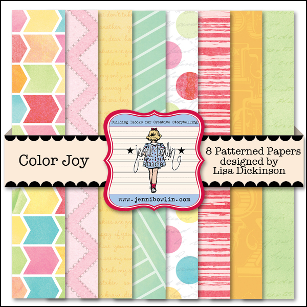 jenni bowlin 12x12 color joy digital paper kit