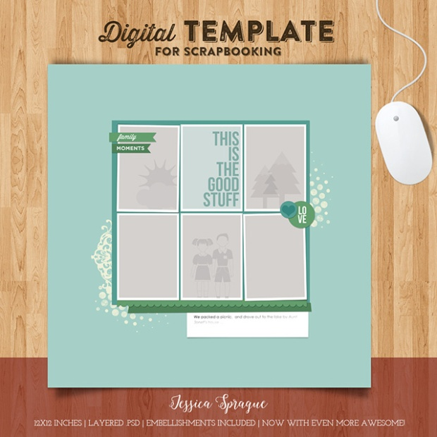 Jessica Sprague digital scrapbooking template