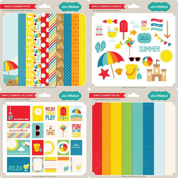 lori whitlock simple summer digital scrapbooking kit - Copy