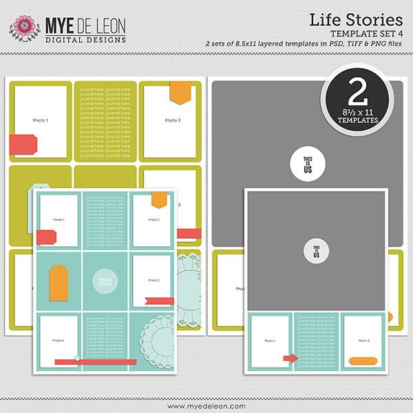 Mye De Leon digital scrapbooking templates