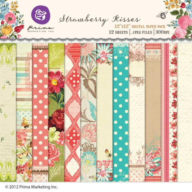 Prima Marketing digital scrapbooking paper kit