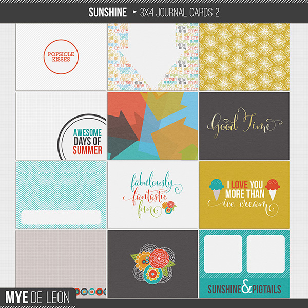 sunshine digital journaling cards by mye de leon
