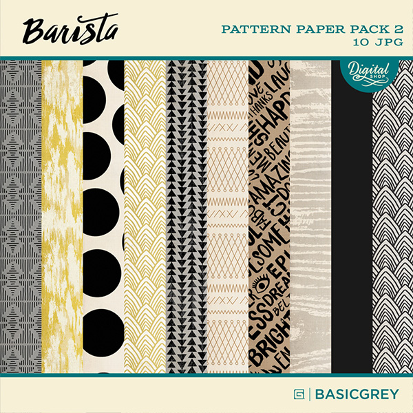 Basic Grey digital paper pack