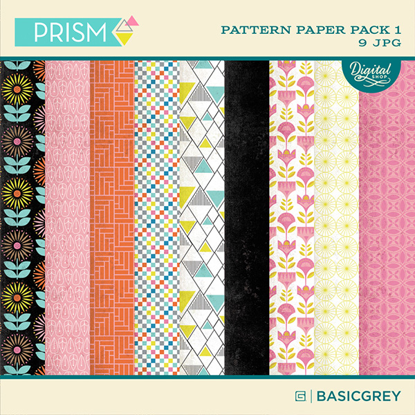 Basic Grey Prism Digital Paper Pack