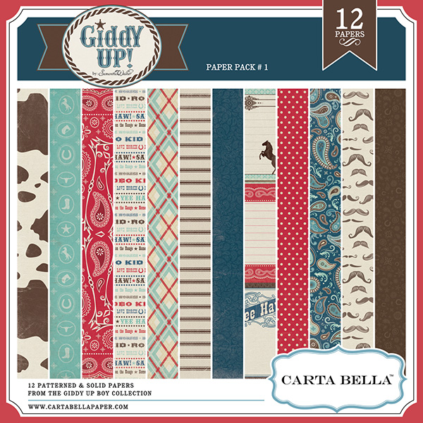 Carta Bella Giddy Up digital scrapbooking paper kig