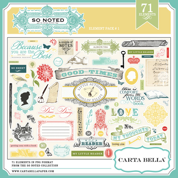 Carta Bella So Noted Digital Element Pack