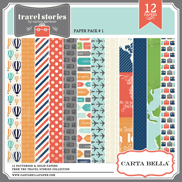Carta Bella Travel Stories Digital Paper Pack