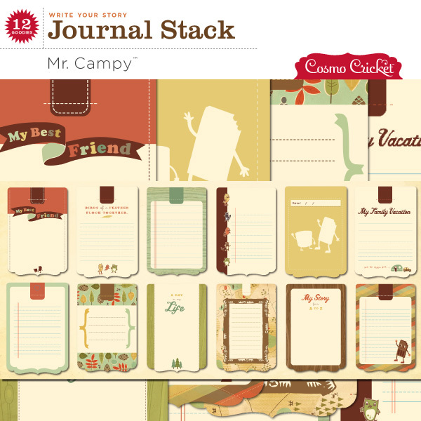 Cosmo Cricket digital scrapbook journaling cards