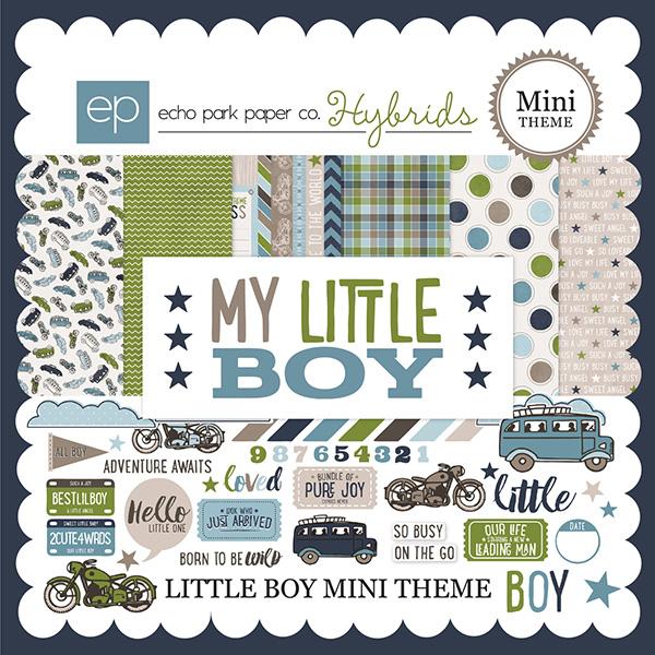 Echo Park Hybrids Little Boy digital scrapbooking kit