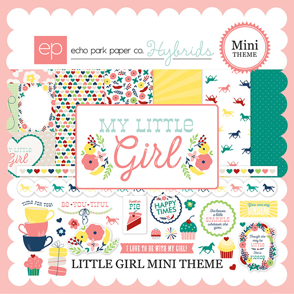 Echo Park Hybrids Little Girl digital scrapbooking kit