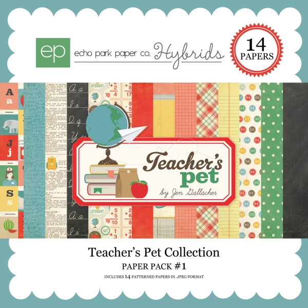Echo Park Teachers Pet Digital Paper Pack