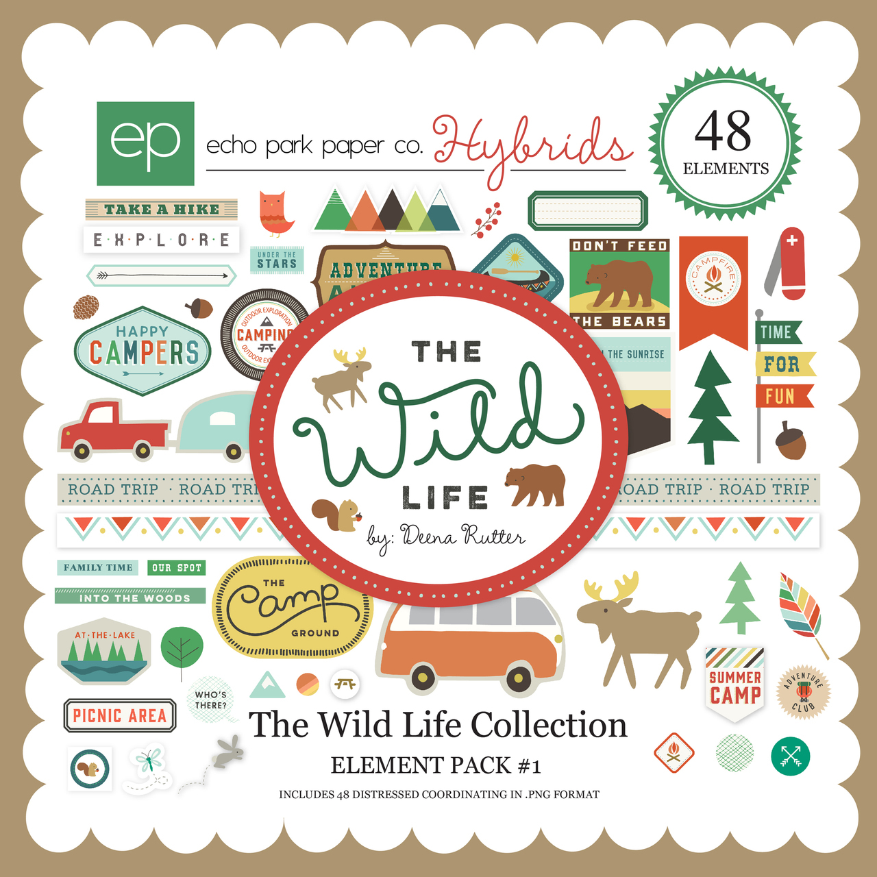 Echo Park The Wild Life Digital Element Pack