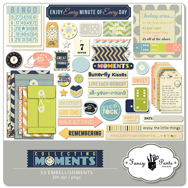 Fancy Pants Design Collecting Moments Element Pack