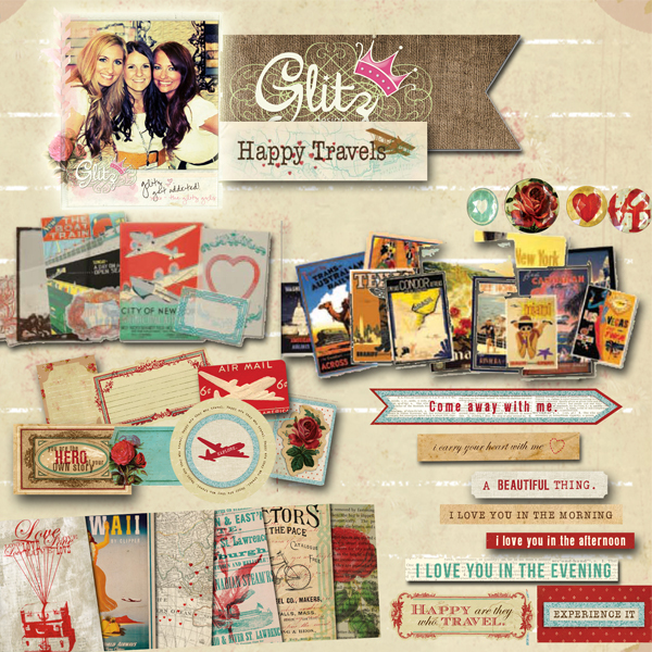 Glitz Design digital scrapbook elements pack