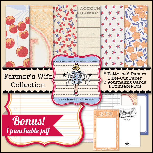 Jenni Bowlin Studio digital papers