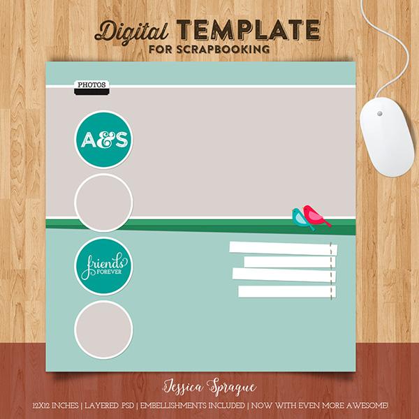 Jessica Sprague digital scrapbooking template