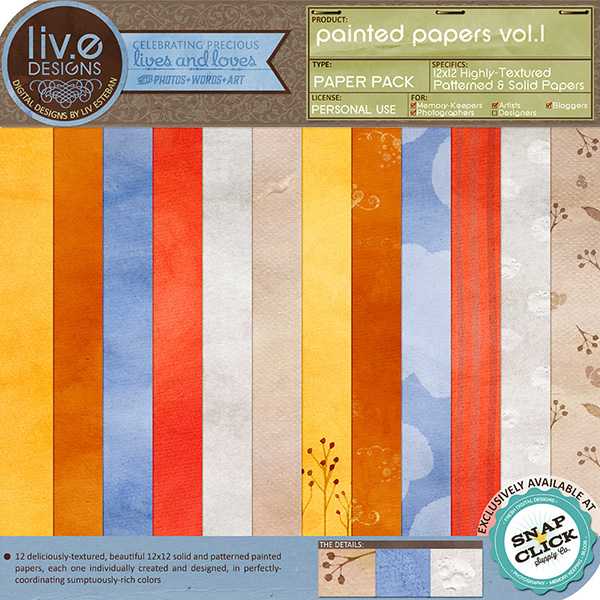 Liv EDesigns digital paper kit
