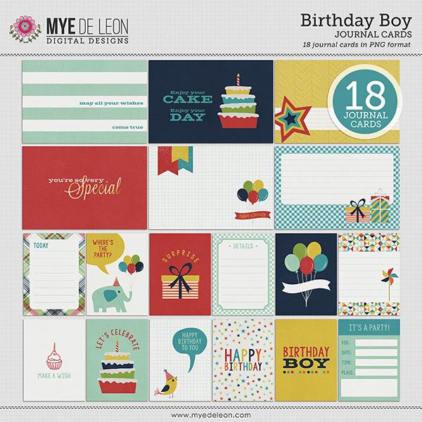 Mye De Leon Birthday Boy digital scrapbooking kit