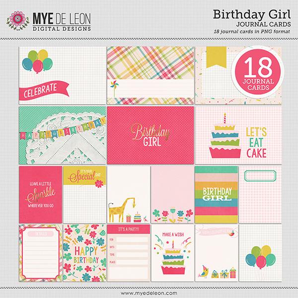Mye De Leon Birthday Girl digital scrapbooking kit