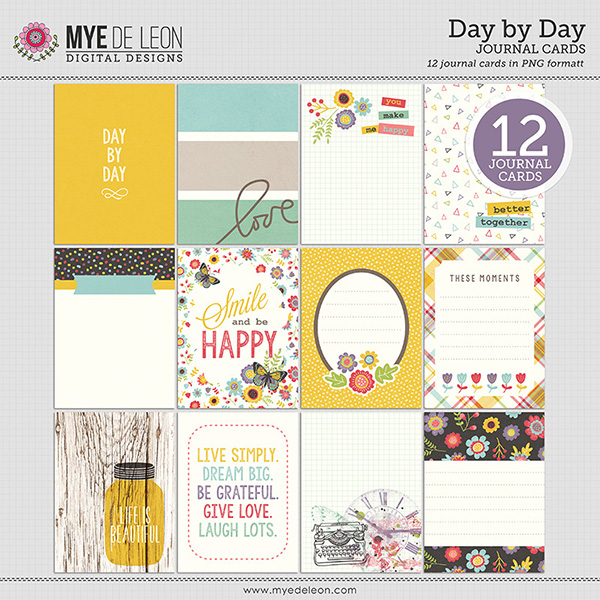 Mye De Leon digital journaling cards