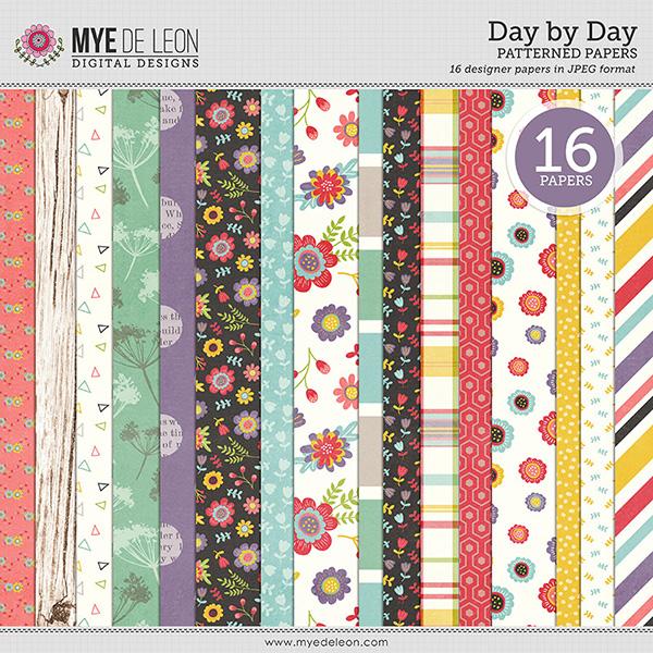 Mye De Leon digital paper kit