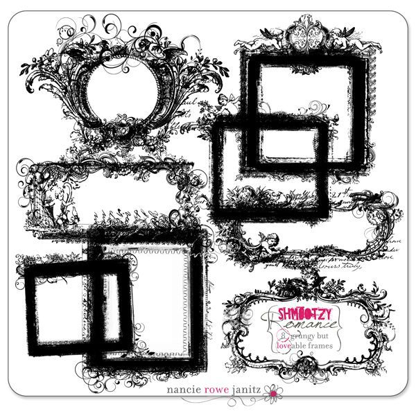 Nancy Rowe Janitz digital scrapbooking frames