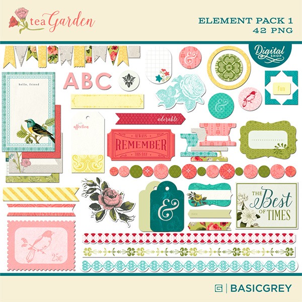 Basic Grey digital element pack