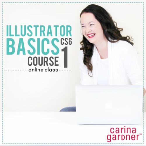 Carina Gardner Illustrator 1 digital scrapbooking workshop available at www.snapclicksupply.com
