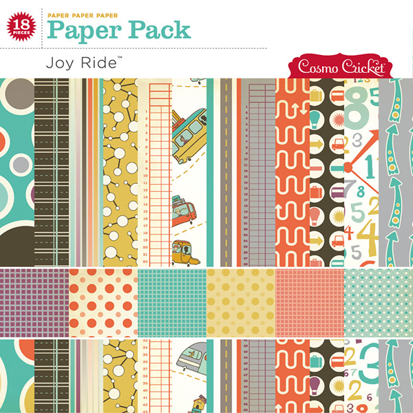 Cosmo Cricket Joy Ride digital paper pack available at www.snapclicksupply.com #digiscrapbooking #digitalscrapbooking