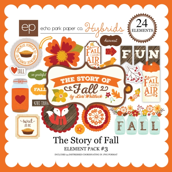 Echo Park The Story Of Fall digital elements kit available at www.snapclicksupply.com #EchoPark #digitalscrapbooking