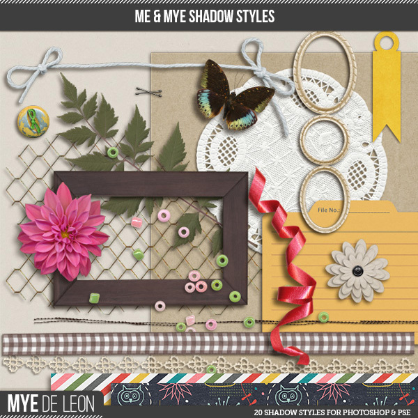 Mye De Leon digital shadow styles available at www.snapclicksupply.com #digitalscrapbooking #myedeleon