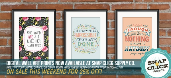 Mye De Leon printable wall art available at www.snapclicksupply.com #printables #homedecor #DIY