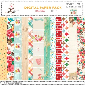 Adrienne Looman Hall Pass Digital Paper Pack No. 2 available at www.snapclicksupply.com #digitalscrapbooking #snapclicksupply