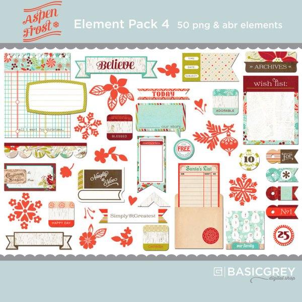 Basic Grey Aspen digital elements pack available at www.snapclicksupply.com #digitalscrapbooking #snapclicksupply