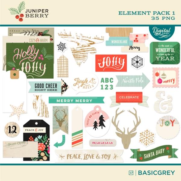 Basic Grey Juniper Berry digital element pack available at www.snapclicksupply.com #digitalscrapbooking #snapclicksupply