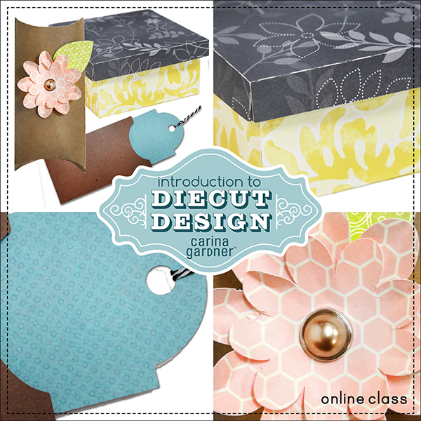 Intro to Die Cut Design self-paced workshop taught by Carina Gardner available at www.snapclicksupply.com #diecutting #scrapbookworkshop