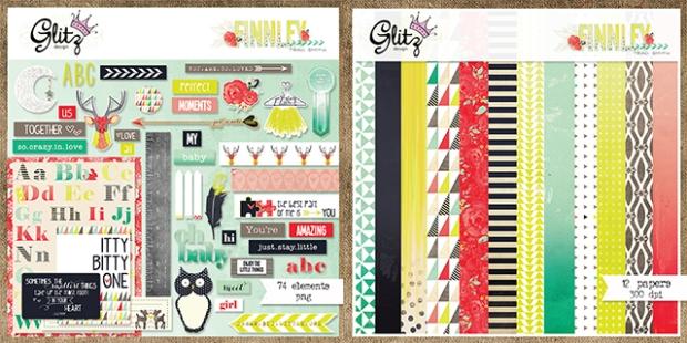 Finnley digital scrapbooking kit from Glitz Design available at www.snapclicksupply.com #digitalscrapbooking #snapclicksupply