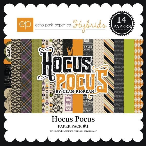 Echo Park Hocus Pocus digital paper kit available at www.snapclicksupply.com #digitalscrapbooking #snapclicksupply