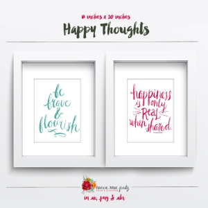Happy Thoughts digital word art by Nancie Rowe Janitz available at www.snapclicksupply.com #digitalscrapbooking #snapclicksupply