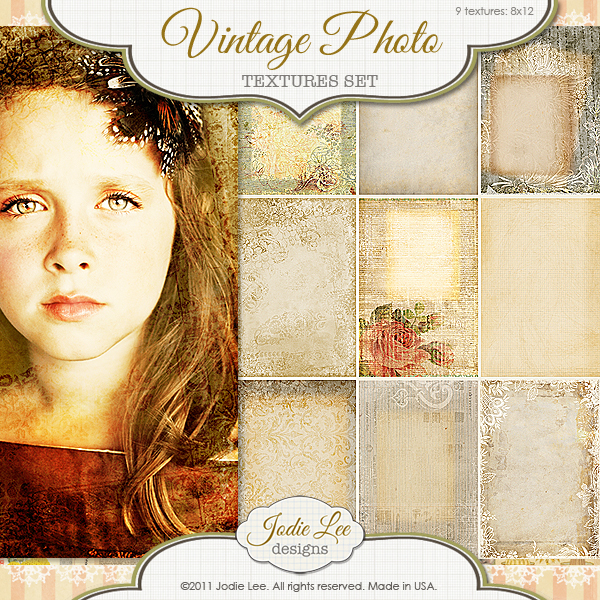 Jodie Lee Vintage Photo Textures available at www.snapclicksupply.com #digitalscrapbooking #snapclicksupply