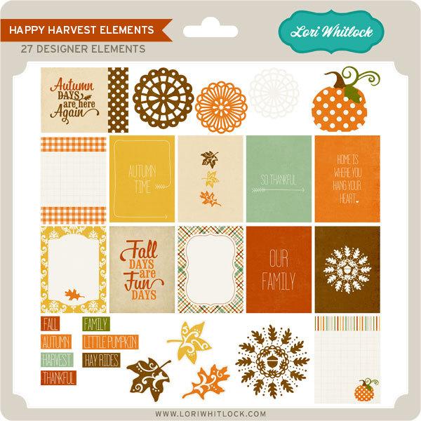 Lori Whitlock Happy Harvest digital elements kit available at www.snapclicksupply.com #digitalscrapbooking #snapclicksupply