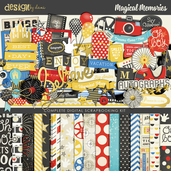 Design by Dani Magical Memories digital scrapbooking kit available at www.snapclicksupply.com #digitalscrapbooking #snapclicksupply