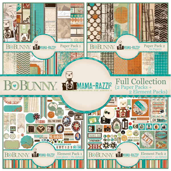 Bo Bunny Mama-Razzi 2 Full Collection digital scrapbooking kit available at www.snapclicksupply.com #digitalscrapbooking #snapclicksupply