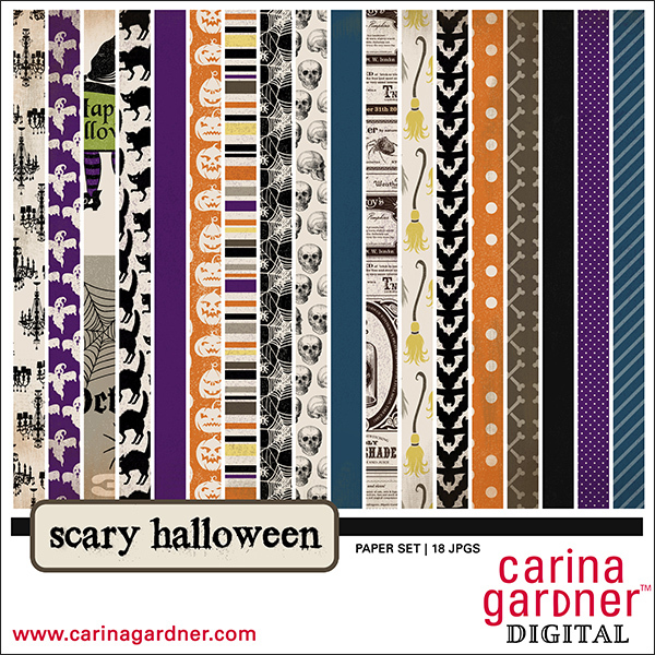 Carina Gardner Scary Halloween Paper Pack available at www.snapclicksupply.com #halloween #snapclicksupply